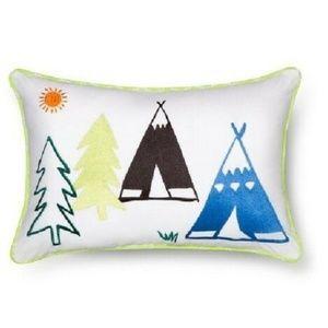 "NWT Sabrina Soto Teepee Decorative Pillow 18""x12"""